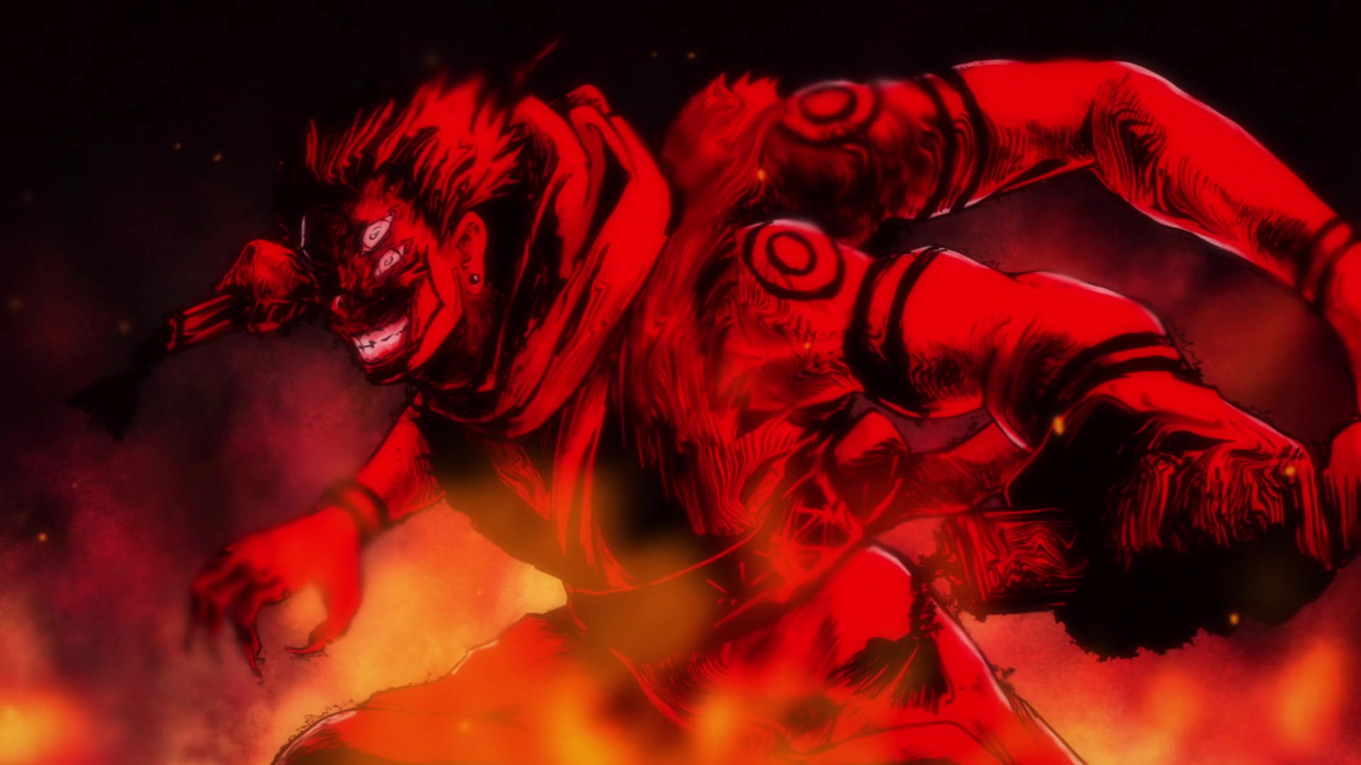 The real form of Sukuna from Jujutsu Kaisen.